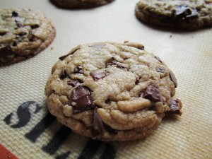 close up on cookie